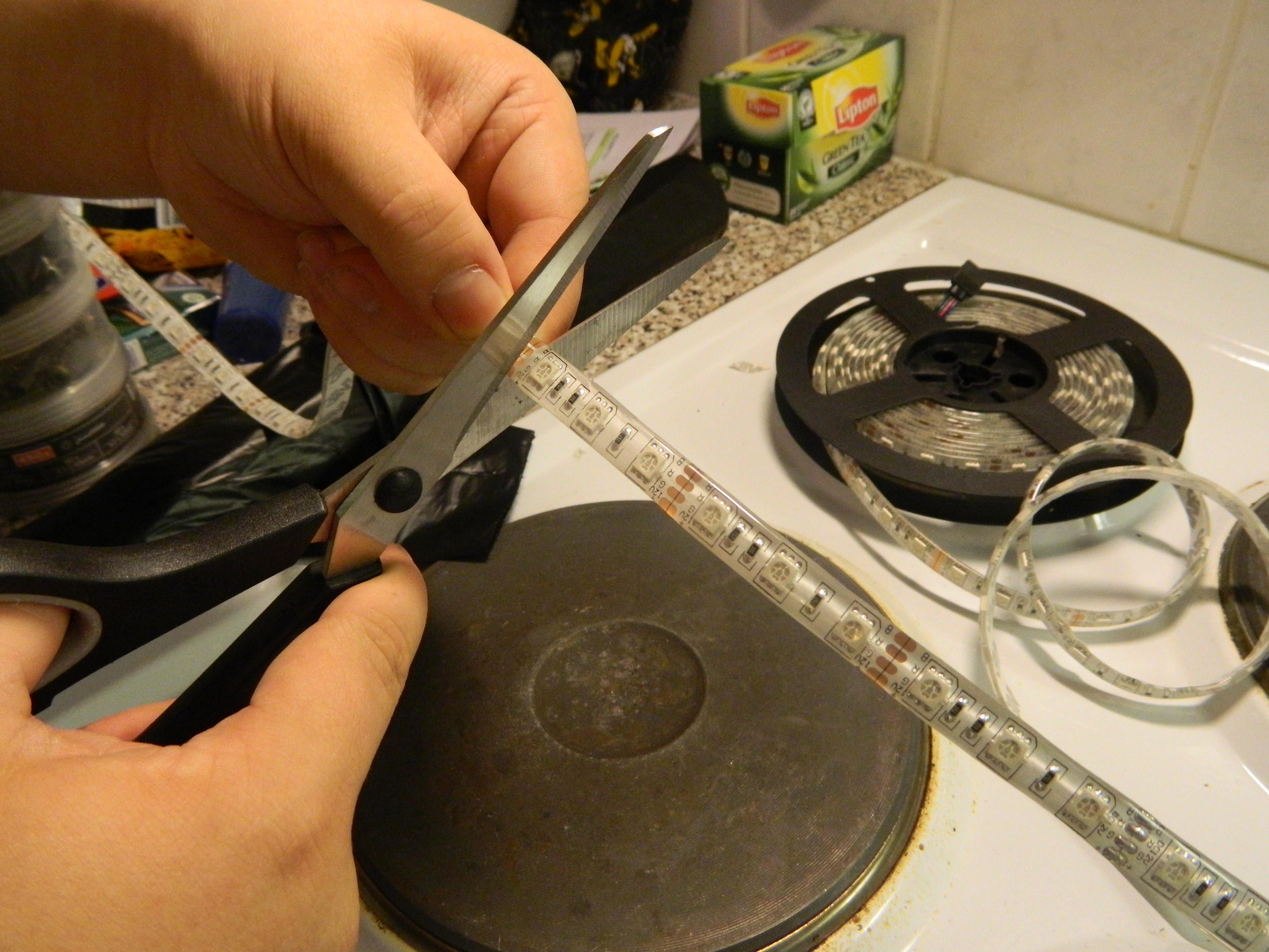 Picture of Stripping, Cutting and Soldering