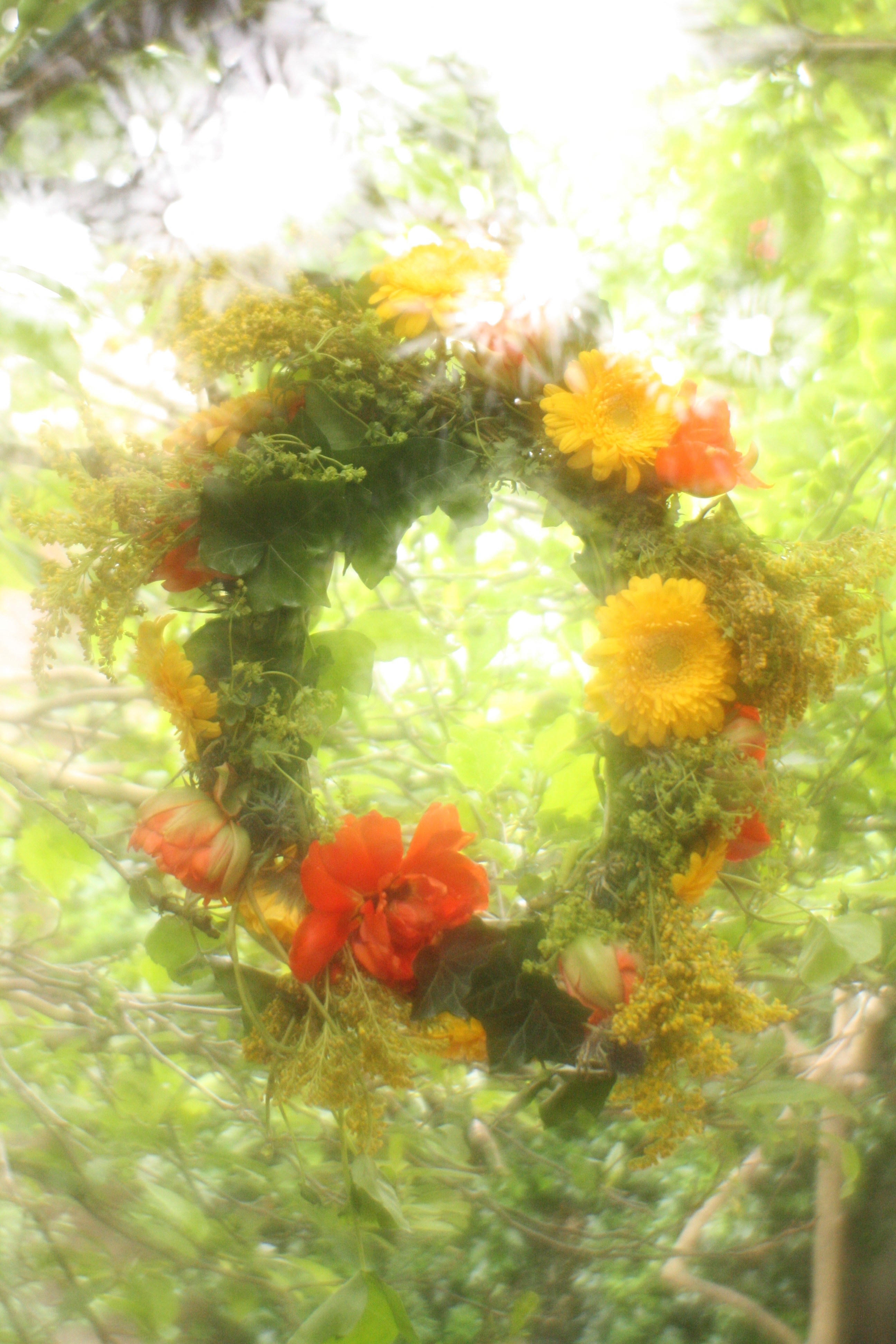 Picture of Summer Solstice Floral Head Wreath