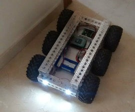 6WD robot with aluminum chassis