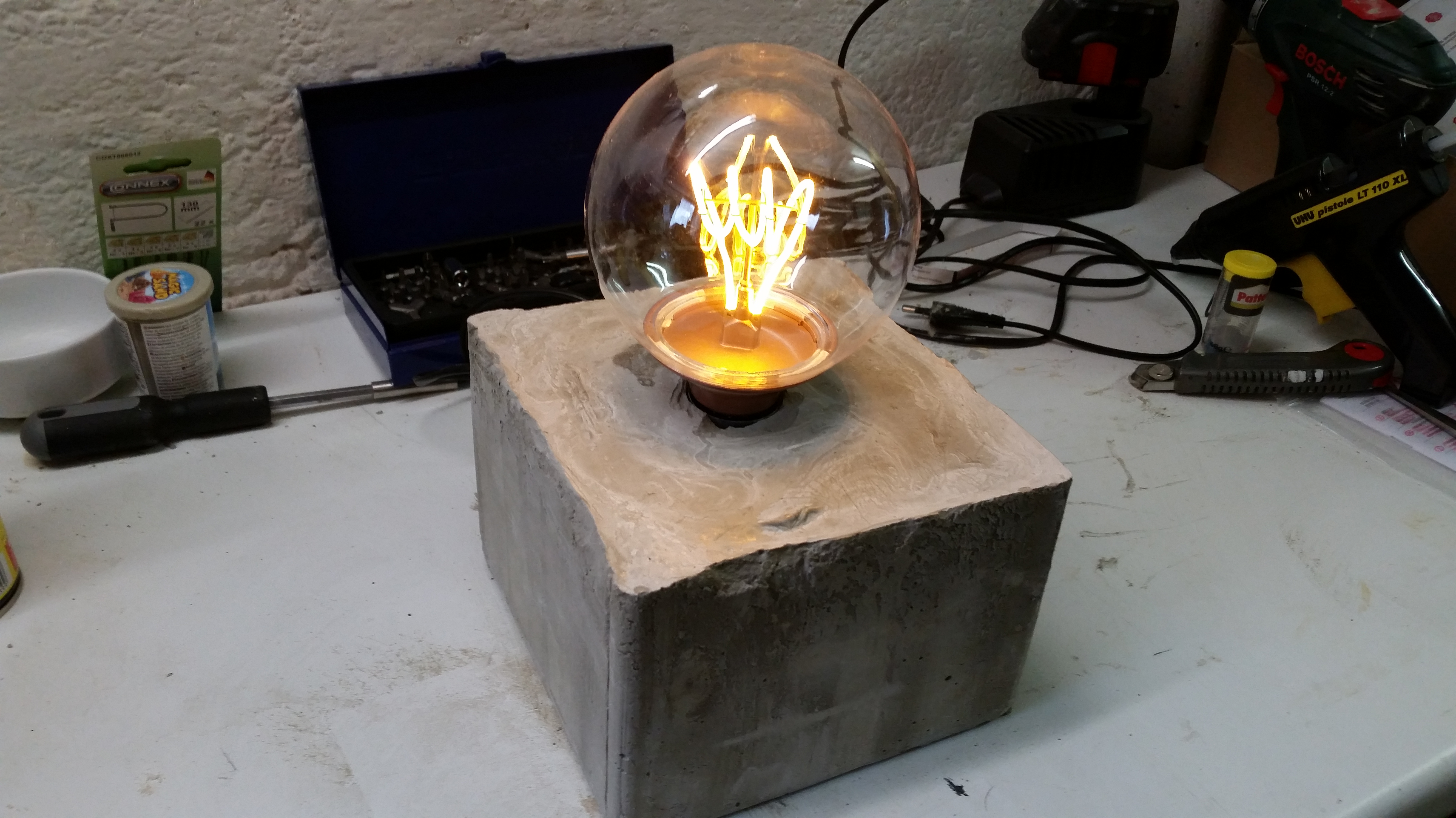 Picture of Concrete Lamp - This Was a Failure