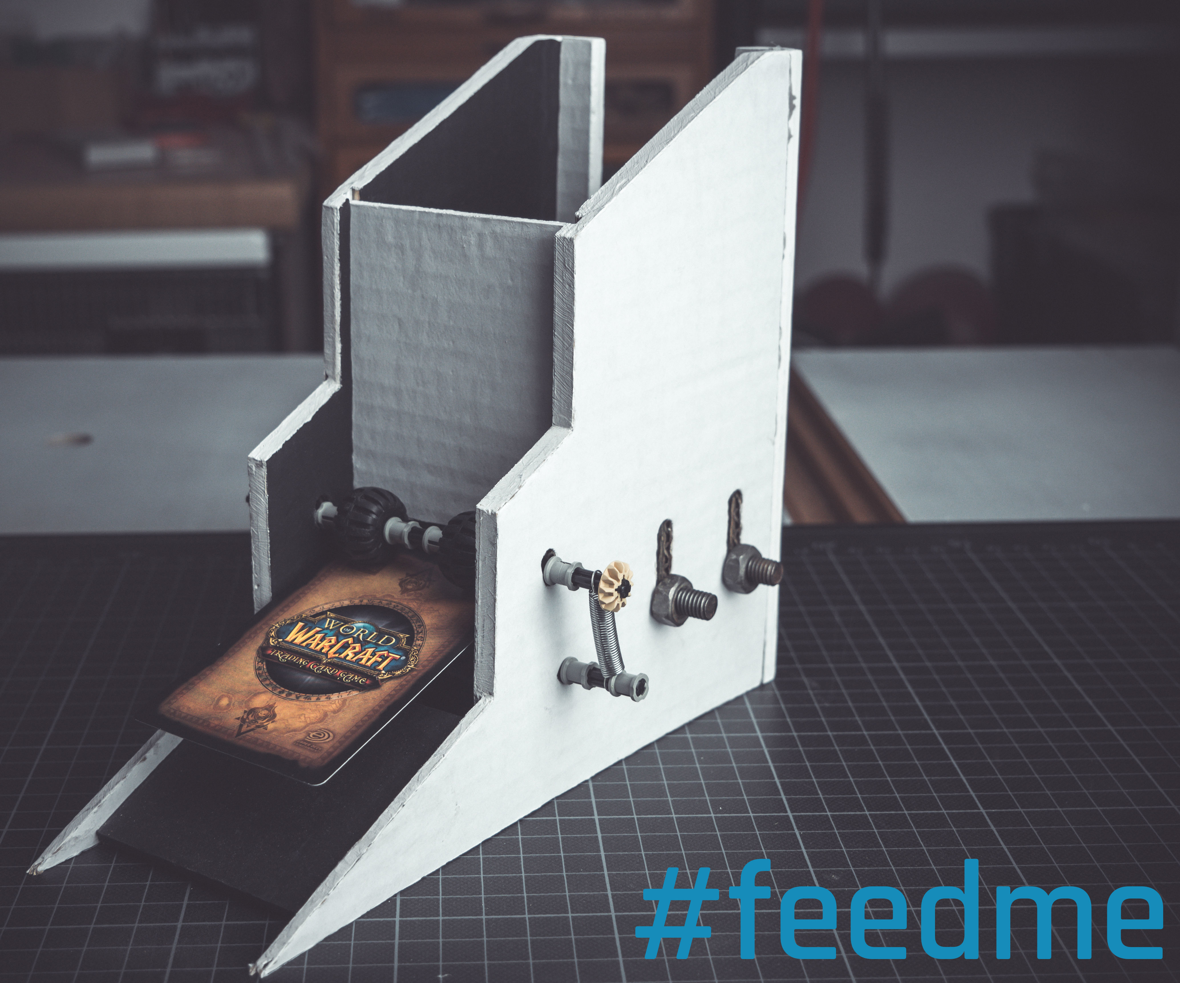 Card Feeder For A Trading Card Machine 10 Steps With Pictures