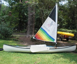 Sailing Rig for a Fiberglass Canoe