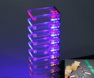 DIY Voice Control Electronic Crystal Column Music Spectrum Kits