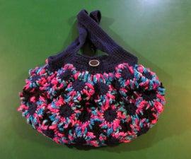 Cute Crochet Flower Purse