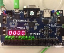 Whack-a-Mole using a FPGA Board