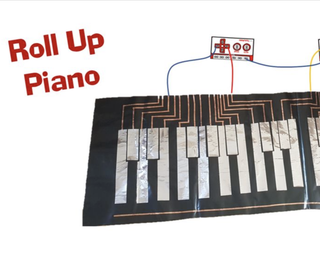 Roll Up Piano Remix With Makey Makey