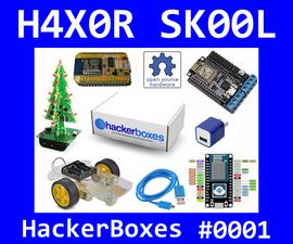 HackerBoxes 0001: Robotic Smart Car, NodeMCU, 3D LED Christmas Tree