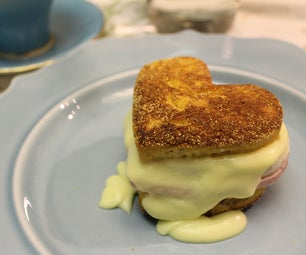 Valentines Eggs Benedict - Breakfast in Bed, Scratch Made.