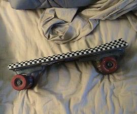 how to make a skateboard for under 10 bucks!