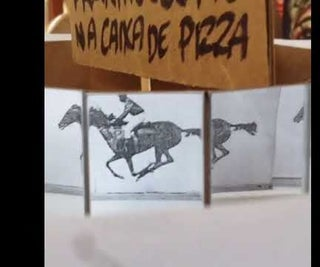 Pizza Box Praxinoscope - Praxinoscópio Na Caixa De Pizza