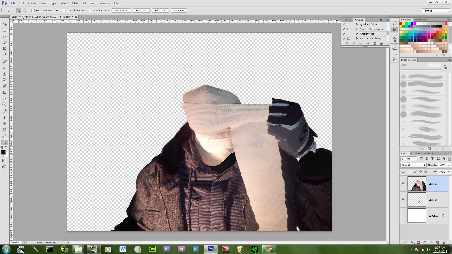 Picture of Adding the Background and Color Correction