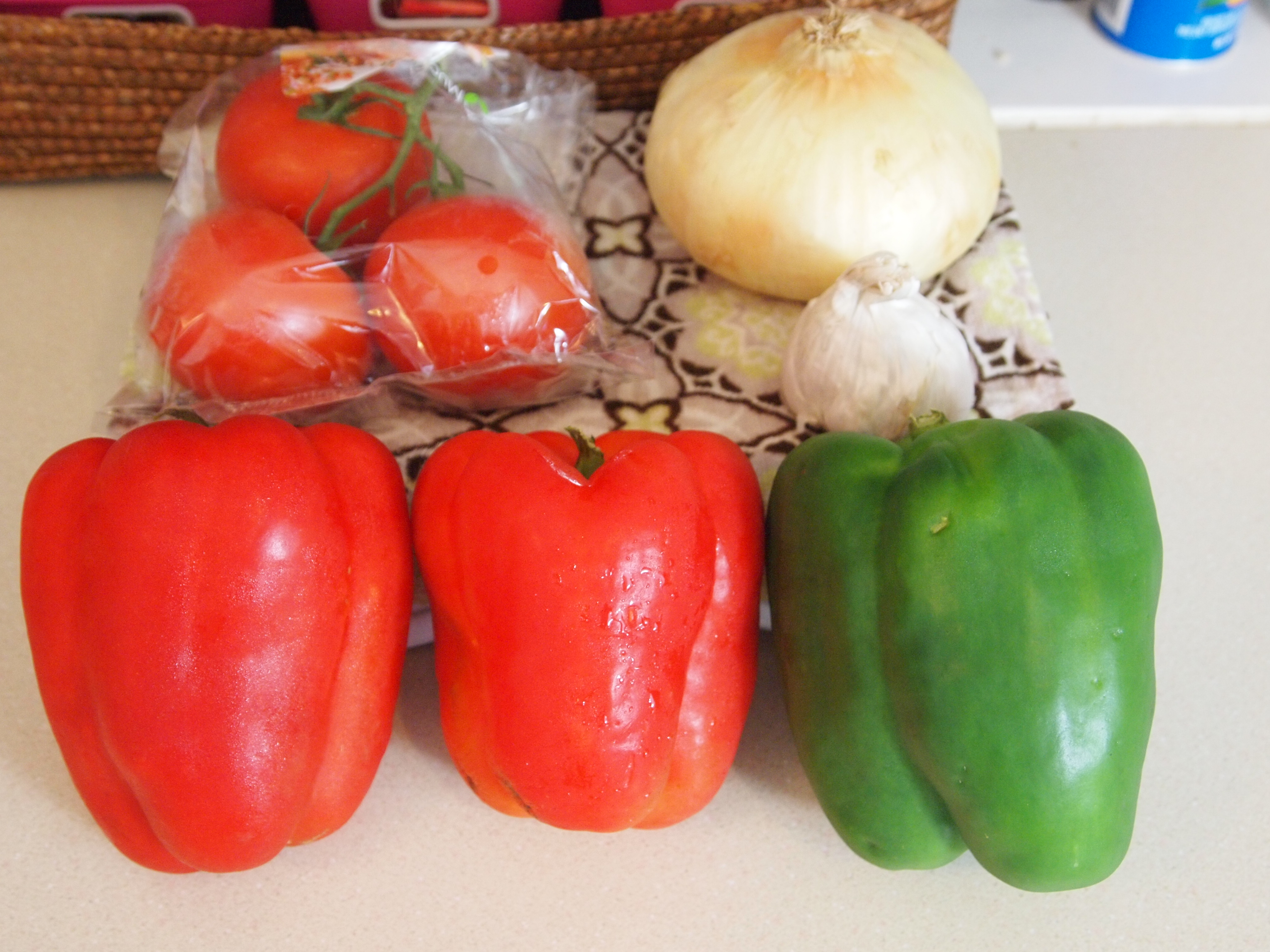 Picture of Ingredients for Basil Stuffed Peppers