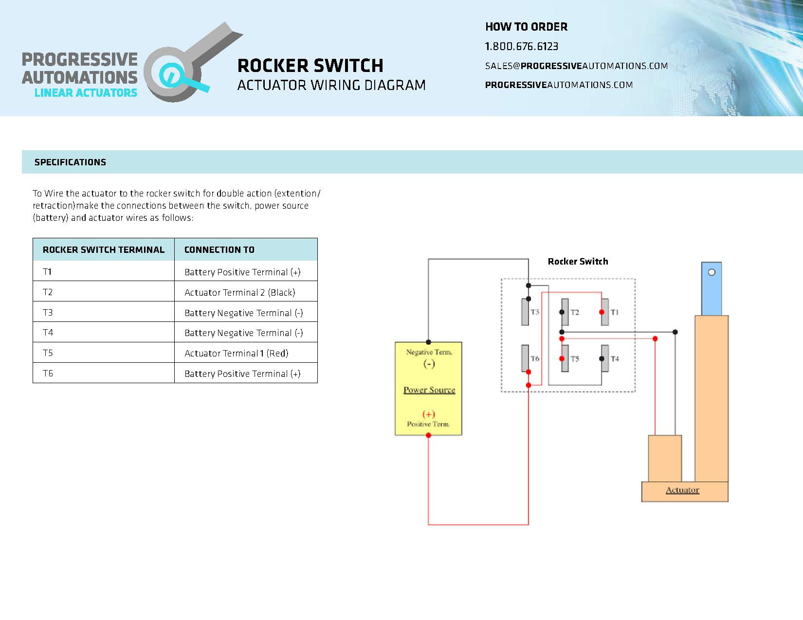 connecting a linear actuator to a rocker switch rh instructables com 12V Battery Wiring Diagram Bosch 12V Relay Wiring Diagram