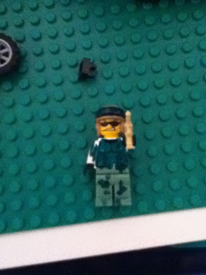 Picture of Custom Colored Lego Minifigs/bricks