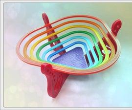 "3D Printed Bowl ""Rainbow"""