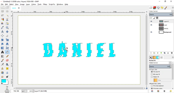 Add a Red and Cyan Distorted Text
