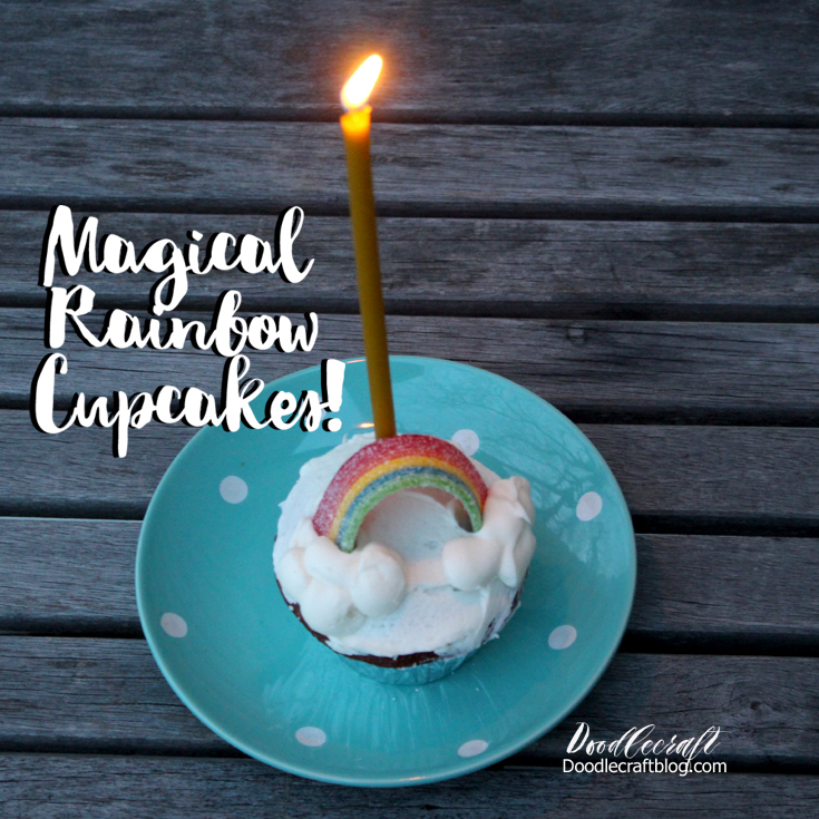 Picture of Magical Rainbow Cupcakes!