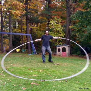Supa-Hula (a Very Big Hula-hoop Made From Plastic Electrical Conduit)