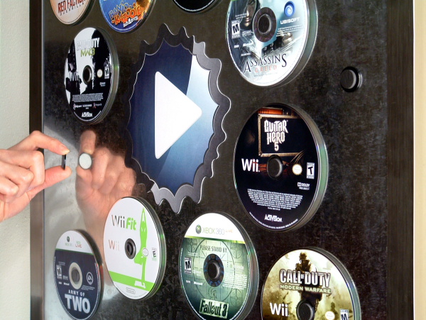 Disc Mount - Store and Display CDs on Metal Surfaces