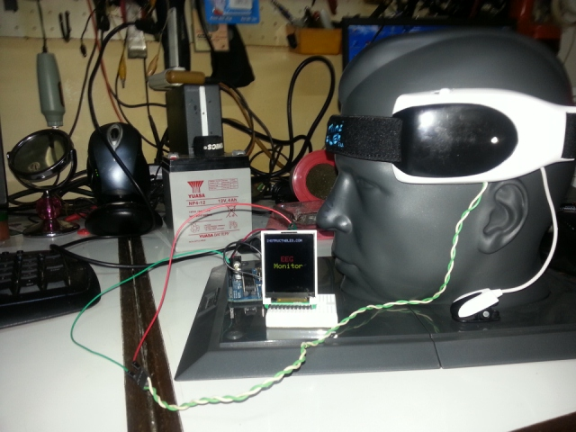 Picture of Phase 1: EEG Monitor (Displaying Data in TFT Display) Continued....