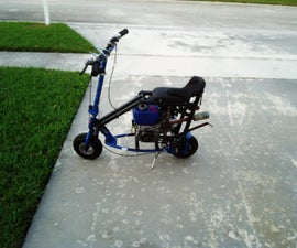 mini bike made from electric scooter frame