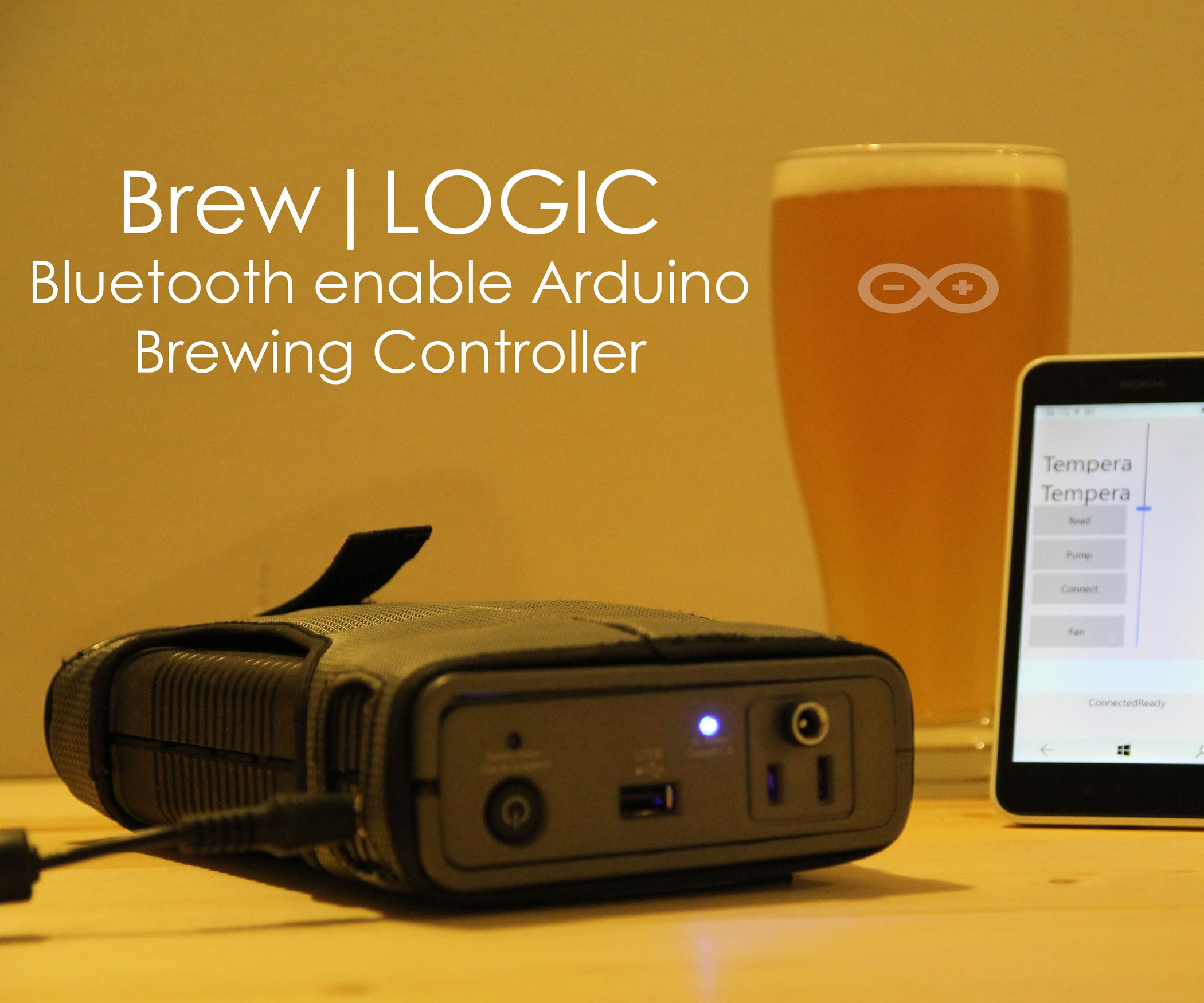 QnA VBage Brew|LOGIC - Bluetooth Enabled Arduino Brewing Controller
