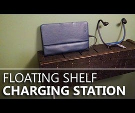 Floating Shelf Charging Station from Pallet Wood