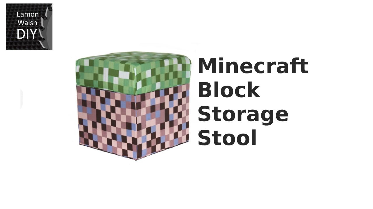 Picture of Minecraft Block Storage Stool.