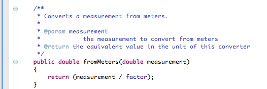 Implement FromMeters()