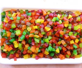 Tutti-Frutti: Colorful Candied Fruit Cubes From Raw Papaya