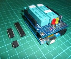 Programming the ATTiny85, ATTiny84 and ATMega328P : Arduino As ISP