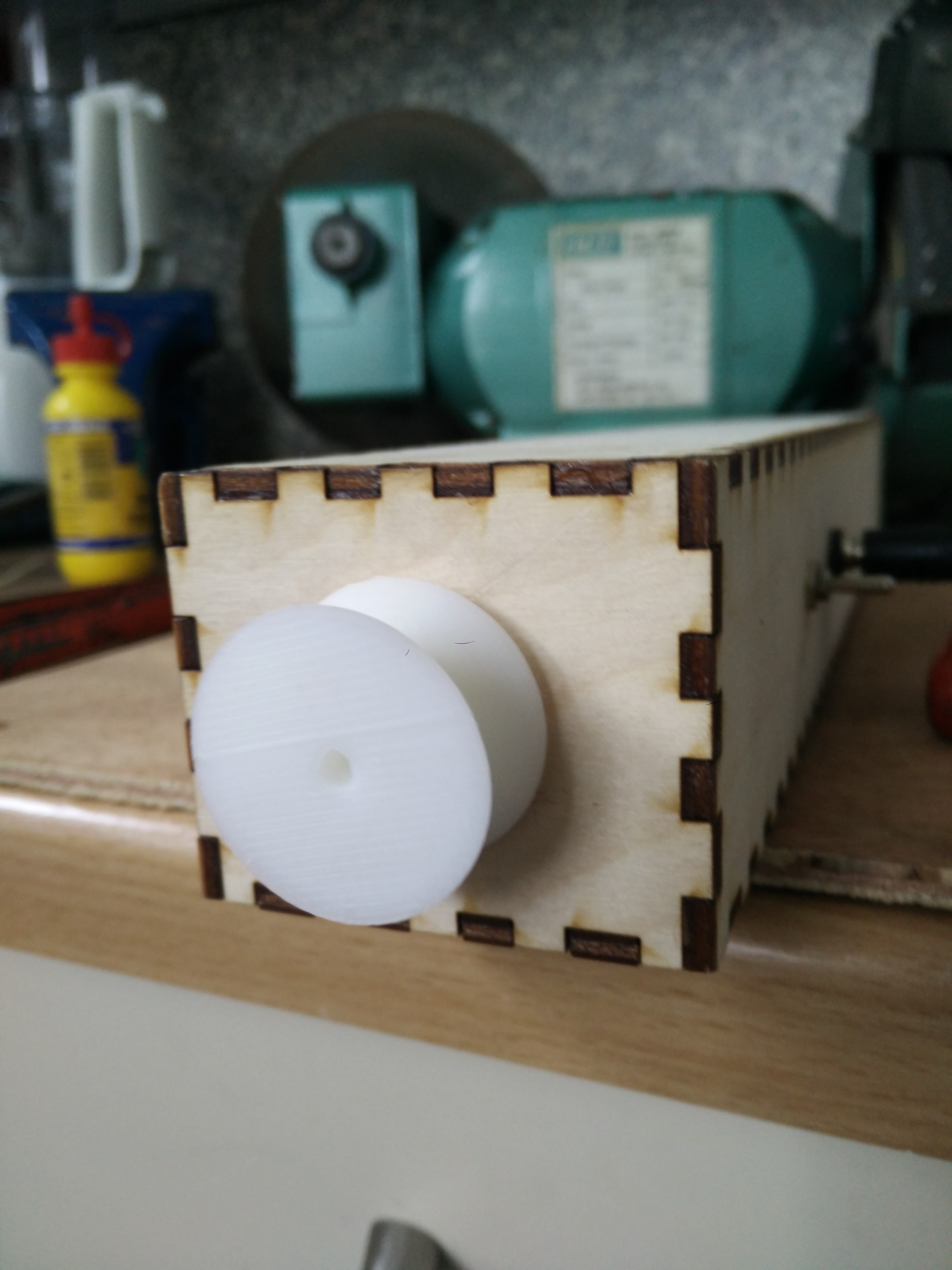 Picture of Cutting the Sides, Mounting the Motor Securely, 3D Print the Wheel.