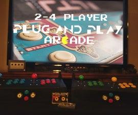 2-4 Player Plug and Play Raspberry Pi Arcade