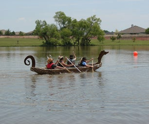 Cardboard Viking Longship and Cardboard Boat Regatta