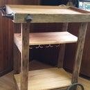 Reclaimed Barn Wood Bar Cart