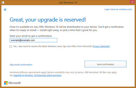 Reserve Your Free Windows 10