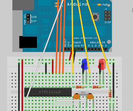 How to program a AVR (arduino) with another arduino