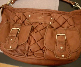 Woman's Handbag made of Laser-Cut Leather with Phone charger and LED Light