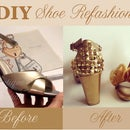 How to Refashion Bridal Shoes (Flower Petals & Pyramid Trims)