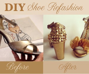 How to Refashion Bridal Shoes (Flower Petals & Pyramid Trims)