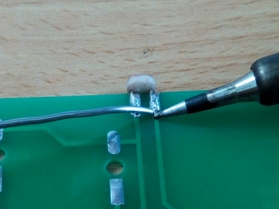 Picture of Solder the LEDs and LDR