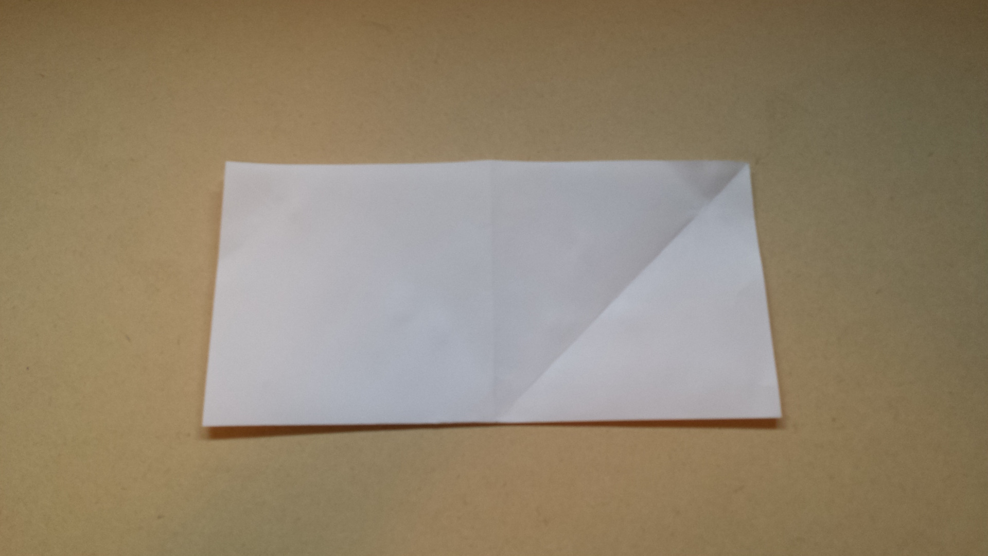 Picture of Fold in Half Length-wise One Direction, Unfold, Then Fold in Half Length-wise the Other Direction