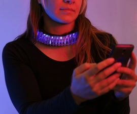 Bluetooth Controlled LED Wearable With Intel Edison