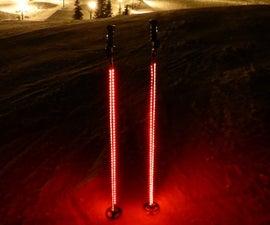 Light Up Ski Poles (easy)