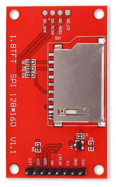 """Picture of 1.8"""" SPI TFT Display"""