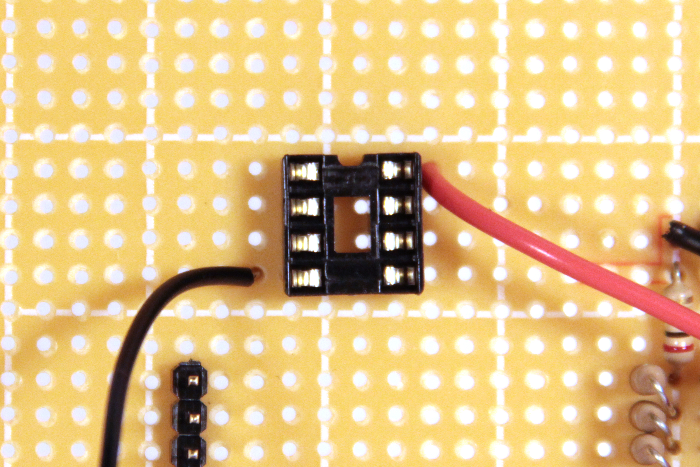 Picture of Amplifier Socket and Power