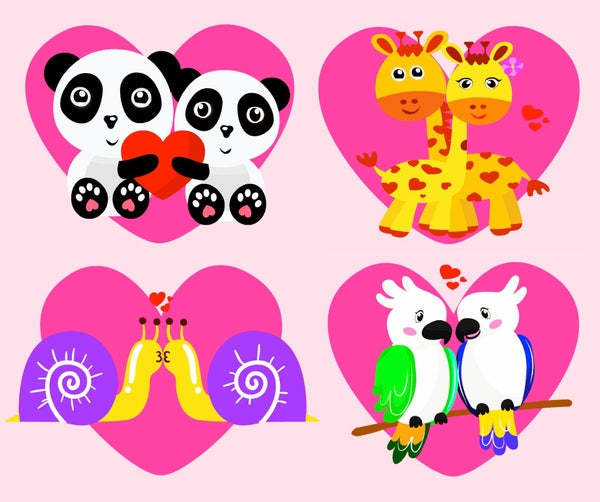 Happy Valentine's Day! Love Is All Around   Cute Animal Animation