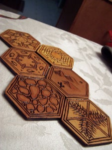 Wood Burning the Tiles