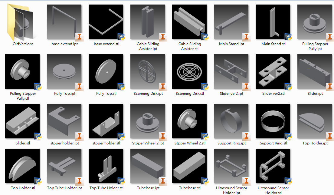 Picture of 3D Printed Parts (Main)