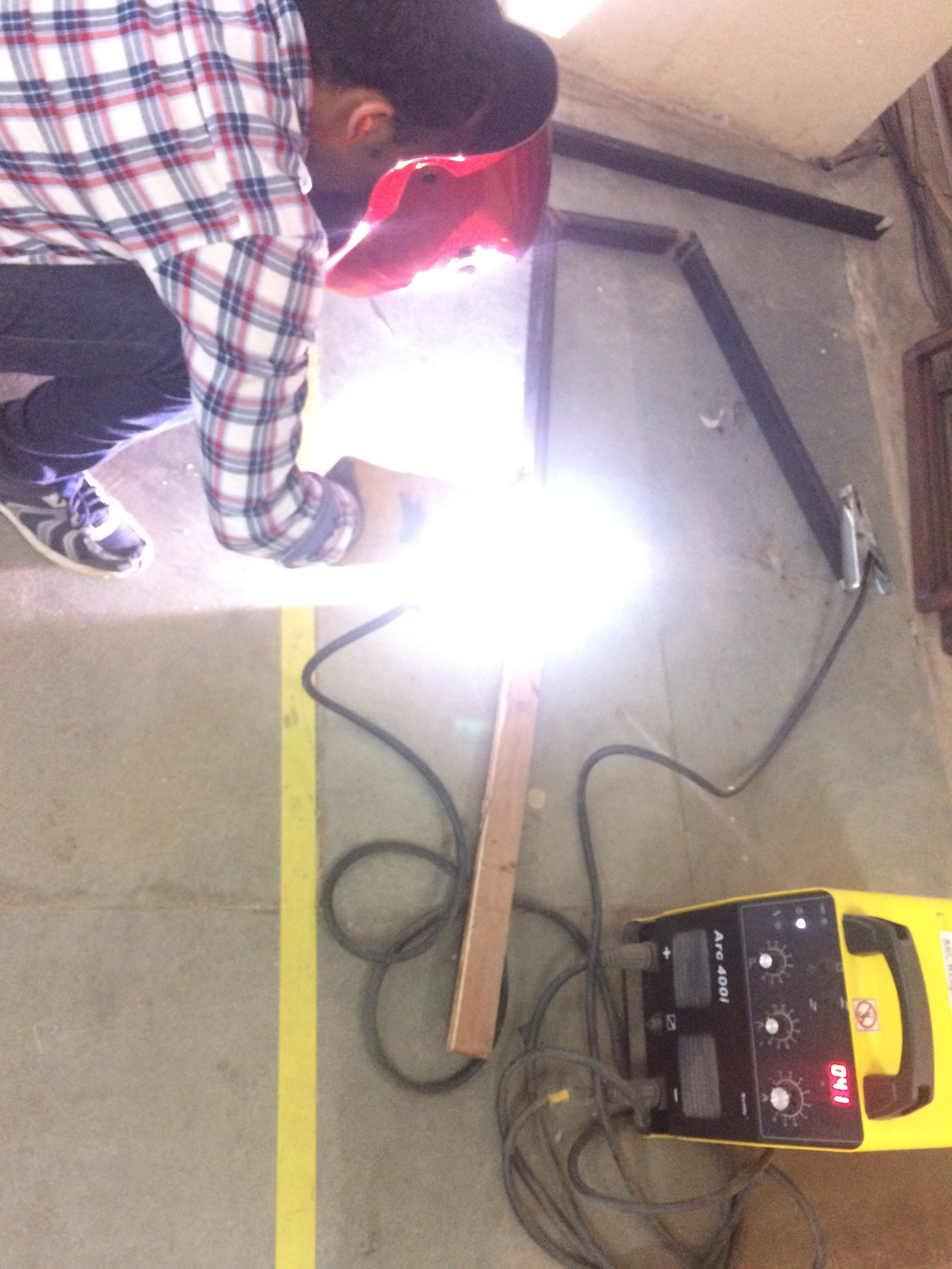 Picture of Welding the Frame